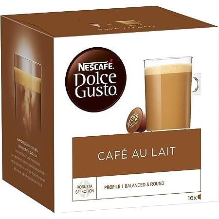 Nescafé Dolce Gusto Café au Lait - Café - 48 Capsules (Pack de 3 boîtes x 16)