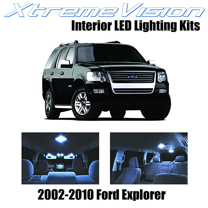 XtremeVision Interior LED for Ford Explorer 2002-2010 (11 Pieces) Cool White Interior LED Kit + Installation Tool