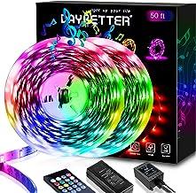 Daybetter 50ft LED Strip Lights, LED Light Strip Music Sync