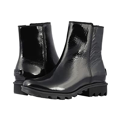 SOREL Phoenixtm Zip (Black Patent Leather) Women