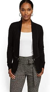 New York & Co. Women's Black Zip-Accent Cardigan - 7Th Avenue