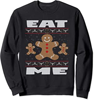 Eat Me Funny Ugly Sweater Christmas Cookie Gift Shirt
