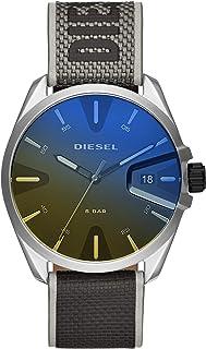 Diesel Ms9 Men's Black Dial Nylon Analog Watch - DZ1902