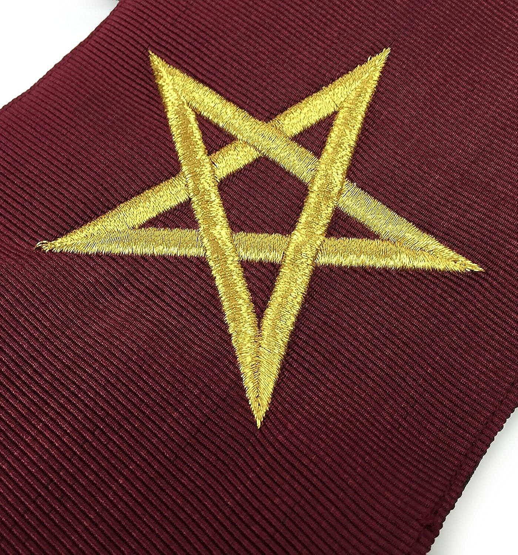 Masonic Blue Lodge 14th Degree Collars- Set of 9 collars Machine Embroidered