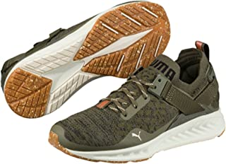 PUMA Women's Ignite Evoknit Lo Vr WN's, Olive Night- Black-Quiet Shade, Running Shoes