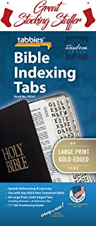Tabbies Large Print Gold-Edged Bible Indexing Tabs, Old & New Testaments, 84 Tabs Including 64 Books & 20 Reference Tabs (58341)