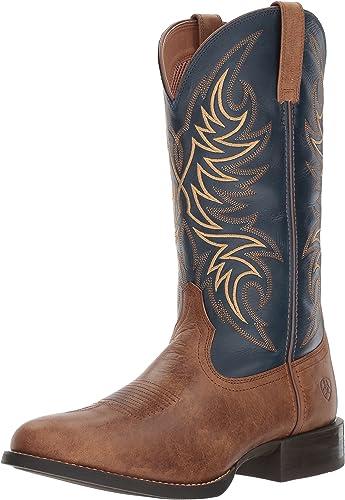 Ariat - Chaussures Horseman Horseman Western Western Hommes, 44 W EU, Sandstorm Solid bleu  grand choix