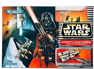 Star Wars Mirco Machines Darth Vader's Lightsaber/death Star Trench By Galoob