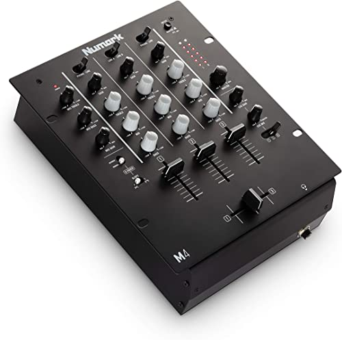 Numark M4 - 3-Channel Scratch DJ Mixer, Rack Mountable with 3-Band EQ, Microphone Input and Replaceable Crossfader wi...