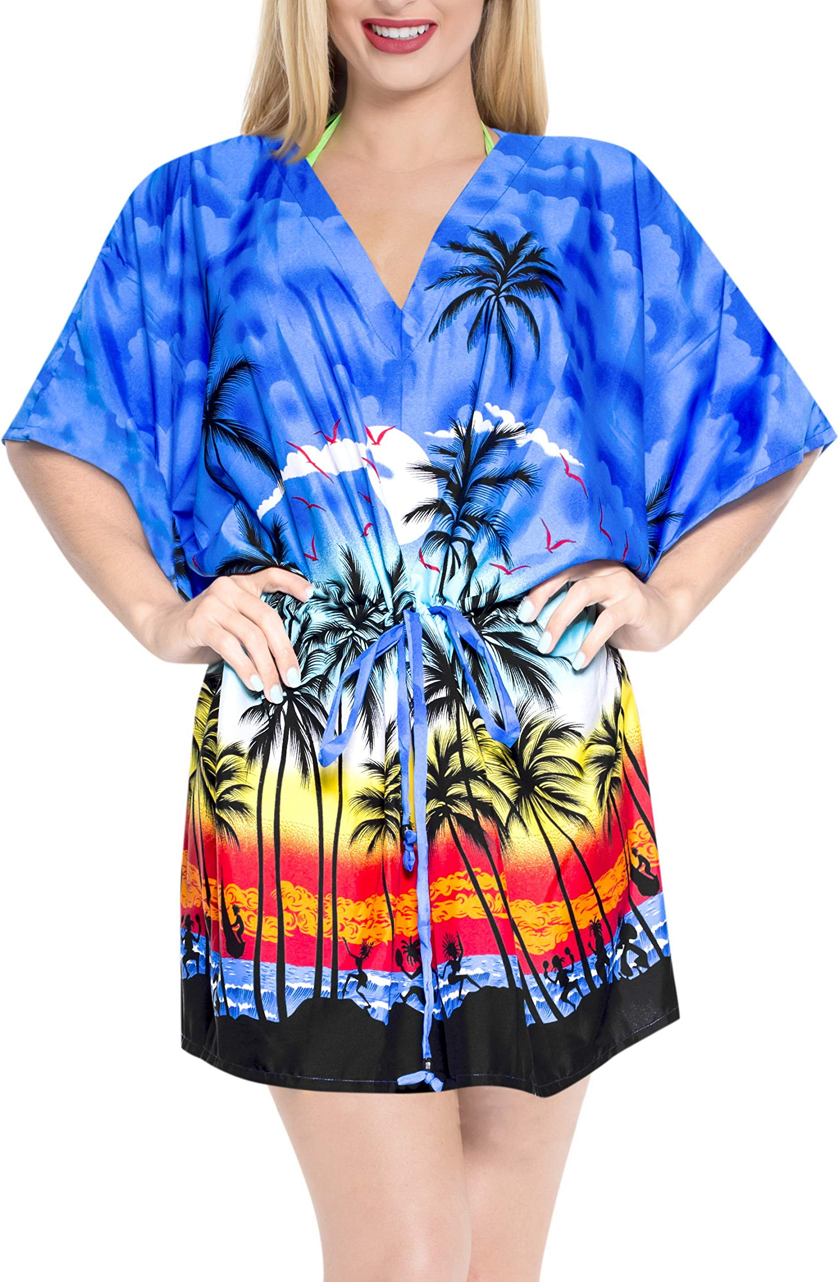 Available at Amazon: LA LEELA Men's Relaxed Short Sleeve Button Down Casual Hawaiian Shirt Printed D