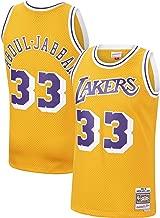 Mitchell & Ness Kareem Abdul-Jabbar Los Angeles Lakers 1984-85 Swingman Gold Replica Jersey