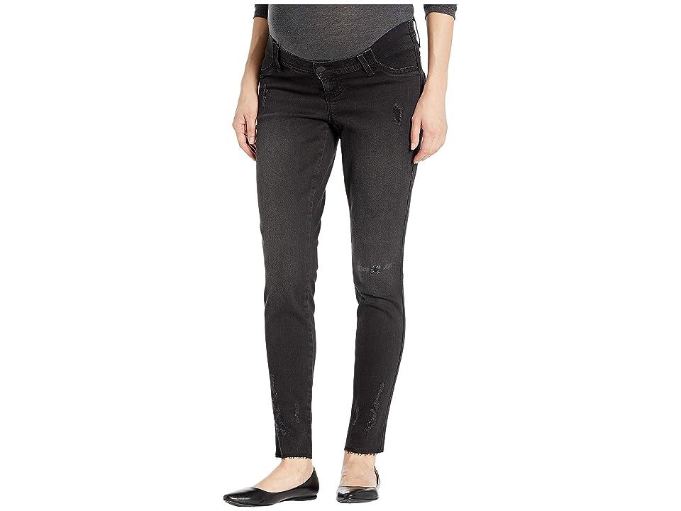 Seven7 Jeans 29 Leggings with Raw Hem Grinding Maternity (Side Panel) in Blackbird (Blackbird) Women