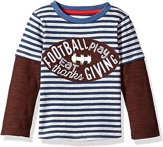 Mud Pie Baby Boys' Toddler Thanksgiving Football Game Time Long Sleeve Raglan T-Shirt