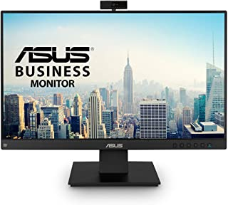 "ASUS BE24EQK 23.8"" Business Monitor with Webcam, 1080P Full HD IPS, Eye Care, DisplayPort HDMI, Frameless, Built-in Adjustable 2MP Webcam, Mic Array, Stereo Speaker, Video Conference"