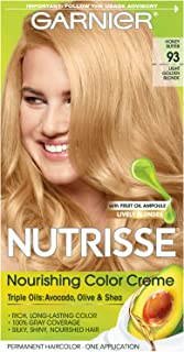 Garnier Nutrisse Nourishing Hair Color Creme, 93 Light Golden Blonde (Honey Butter) (Packaging May Vary)