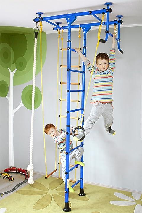 Spalliera svedese per ginnastica bambini nirosport fittop m1 -facile installazione - carico max 130 kg