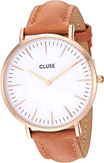 Cluse Women's La Boheme 38mm Leather Band Metal Case Japanese Quartz Movement Analog Watches Collection