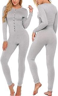 رداء داخلي فضفاض قطعة واحدة من إكوير ضمادة بيجامة رومبير مجموعة ملابس داخلية طويلة الأكمام رداء نوم للنساء