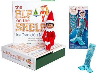 The Elf on the Shelf: A Christmas Tradition - Girl Spanish with Claus Couture Merry Merry Mermaid