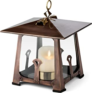 H Potter Craftsman Candle Lantern Decorative Table Top Indoor Outdoor Patio Candle Holder Small
