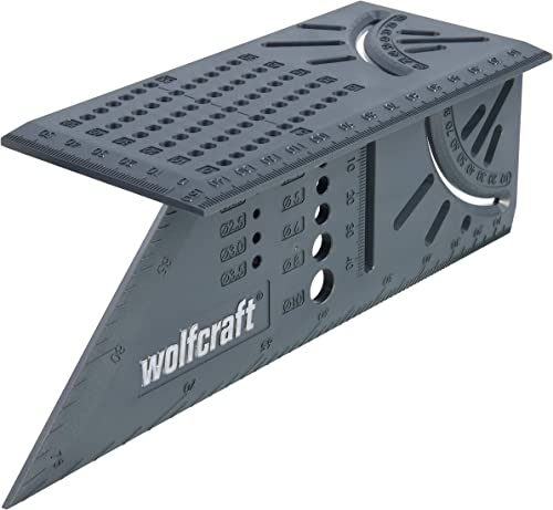 Wolfcraft 5208000 Équerre 3D d'onglet 150 x 275 x 66 mm - Traçage angle de 45° à 90°