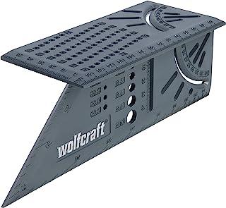 wolfcraft I 3D-Gehrungswinkel I 5208000 I zum Bearbeiten von dreidimensionalen Werkstücken I Anschläge für 45°- und 90°-Wi...