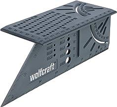 Wolfcraft 3D-verstekhoek I 5208000 I voor het bewerken van driedimensionale werkstukken I aanslagen voor 45°- en 90° hoek ...