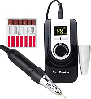 35000RPM Portable Rechargeable Nail Drill,cordless Electic Nail File Machine For Acrylic Nails, electric Nail Manicure Ped...