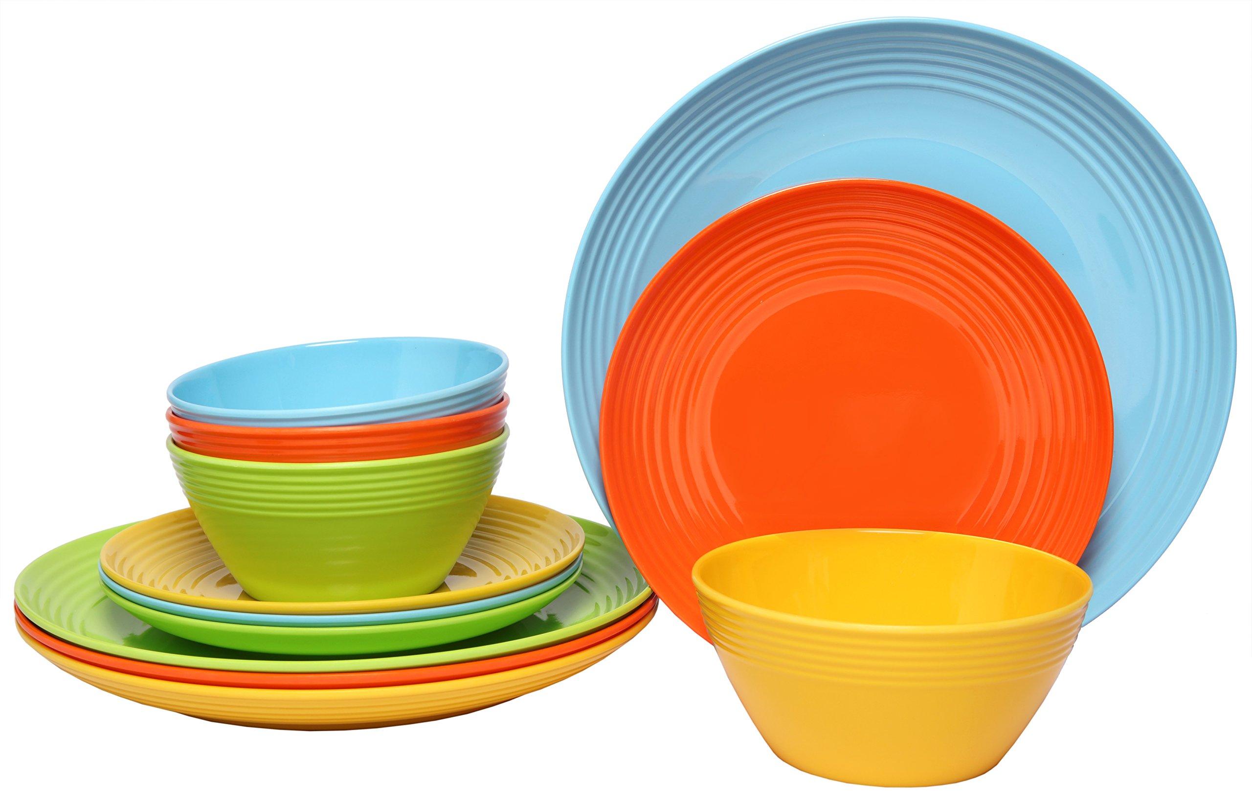 Melange Dinnerware Collection Shatter Proof Chip Resistant