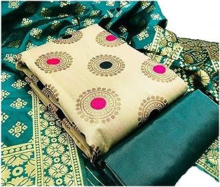 Y2Y Fashion Hot New Releases Women's Banarasi Jacquard Chanderi Cotton Unstitched Salwar Suit Dress Material