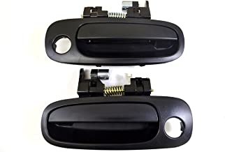 PT Auto Warehouse TO-3199A-FP - Outside Exterior Outer Door Handle, Textured Black - Front Left/Right Pair