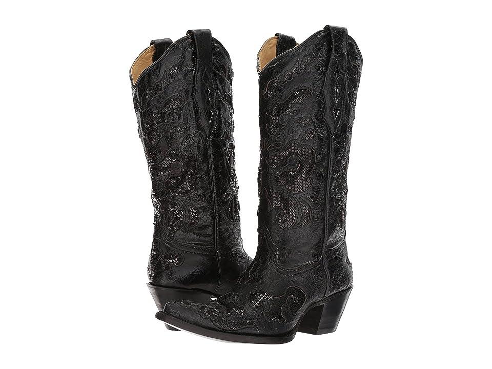 Corral Boots A1070 (Black) Cowboy Boots