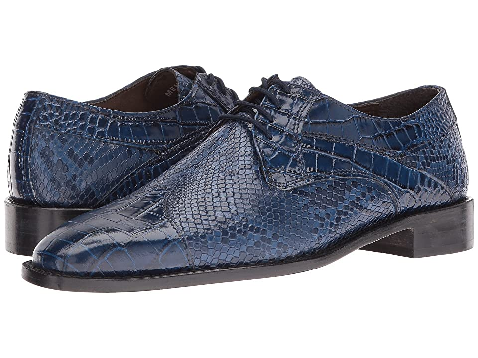 Mens Vintage Style Shoes| Retro Classic Shoes Stacy Adams Rivello Leather Sole Modified Cap Toe Oxford Dark Blue Mens Lace Up Cap Toe Shoes $90.00 AT vintagedancer.com