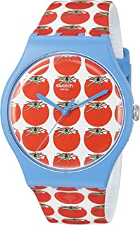 Swatch Women's SUOS102 Tomatella Year-Round Analog Quartz Red Watch