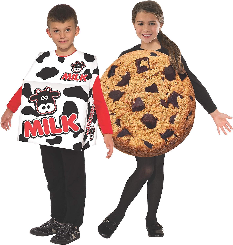Kids Costume Childrens Costume Cookie Costume Halloween Costume Chocolate Chunk Cookie with Milk Hat Milk Carton Cookies and Milk Food Cute