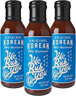 We Rub You Original Korean BBQ Bulgogi Sauce & Marinade 15 OZ (Pack - 3)