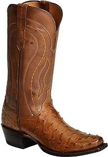 Men's Handmade 1883 Montana Full Quill Ostrich Western Boot Snip Toe - M1606 74