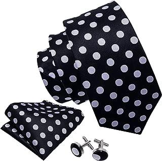 Men's Tie Set Polka Dot Handkerchief Cufflinks New Fashion Neckties