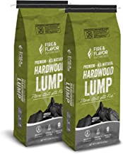 Fire & Flavor Hardwood Lump Charcoal, 8lbs Bag, Pack of 2