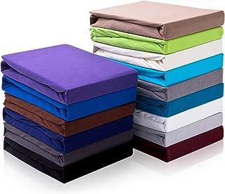 Hometex Premium Textiles Drap-Housse Topper Drap-Housse jusqu'à 10 cm de Hauteur de Barre | Drap pour sommier tapissier To...