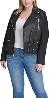 Levi's Women's Faux Leather Contemporary Asymmetrical Motorcycle Jacket (Standard & Plus Sizes)