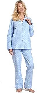 Twin Boat Womens 100% Cotton Flannel Pajama Sleepwear Set