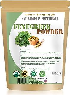 Oladole Natural Fenugreek Powder USDA Organic Certified 100% Natural