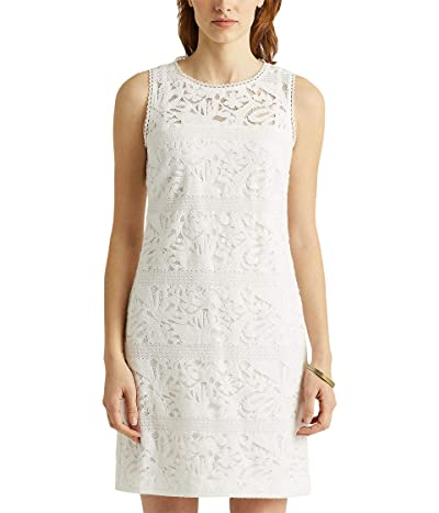 LAUREN Ralph Lauren Floral Striped Lace Dress Women