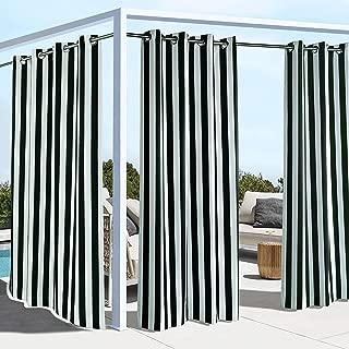 Outdoor Decor Coastal Stripe Cabana Panel, Black (50