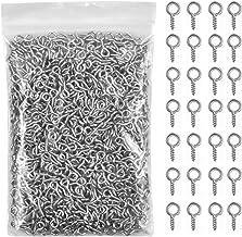 1000 stuks kleine oogschroeven, metalen oogschroeven, ringschroef, ooghaken, zelfsnijdende ringhaken voor het maken van si...