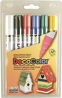 Uchida 300-6A 6-Piece Decocolor Broad Point Paint Marker Set