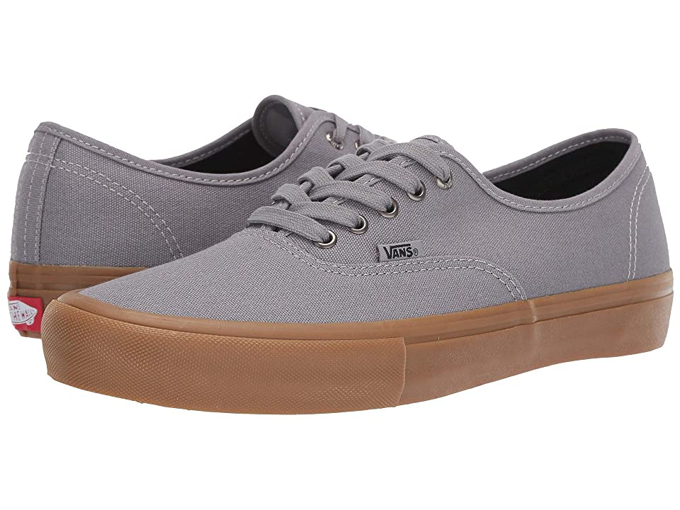 815b74143398de Vans Authentictm Pro (Frost Gray Classic Gum) Men s Skate Shoes