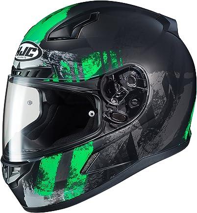 HJC Helmets Unisex-Adult Full-face-Helmet-Style CL-17 Arica MC4HSF (Black/Green, Medium)