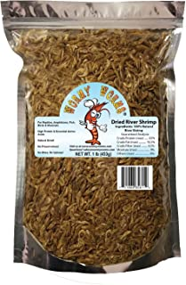Wormyworms Dried River Shrimp for Reptiles Amphibians Fish Birds Poultry Mammals etc (1 LB)